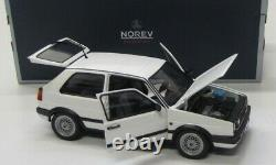NOREV 1/18 Volkswagen VW Golf 2 MK2 GTI G60 1990 Blanche Neuve en boîte 188443