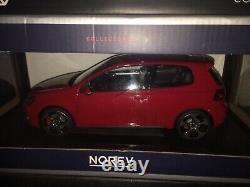 Norev 1/18 Diecast Volkswagen Golf Gti 2009 Rouge Neuve (modèle Épuisé)