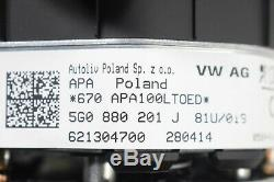 OEM VW Golf 7 Gti Complet Direction Roue avec Multifonctions 5G0880201J