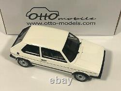 OTTOMOBILE OT562 Volkswagen Golf 1 GTi Rabbit Blanc 1/18 Otto Voiture Miniature