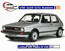 OTTOmobile 118 Volkswagen Golf GTI Rabbit Réf OT563 N°240 / 500 Pcs Otto
