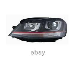 Phare Avant Xenon Gauche Volkswagen Golf VII Gti Depuis 2012 Parabole Noire