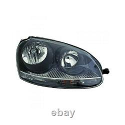 Phare avant gauche fond noir Volkswagen Golf 5 GTI 2004-2009