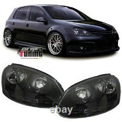 Phares Avants A Fonds Noirs Volkswagen Vw Golf 5 Feux Pack Gti (04300)
