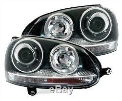 Phares Feux Avant Vw Volkswagen Golf 5 2.0 Tdi 2.0 Tfsi Gti R32 Look Gti Noir
