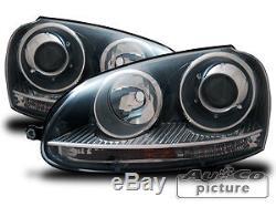 Phares Projecteurs Optique GTI/Xénon VW Volkswagen Golf 5 Noir