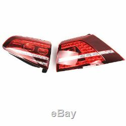 Pour 13-17 Volkswagen Golf VII GTI R GTD Feux Arrière LED Dynamique Rouge foncé
