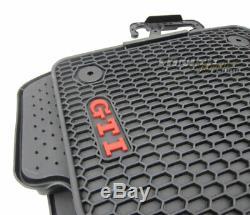Pour Vw Golf 7 VII 4x Original Monster Gti Tapis de Sol en Caoutchouc Nattes Kit