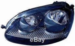 Projecteur Phare avant Sx pour VW Golf 5 Gti 2004 au 2008 Parabole Noir