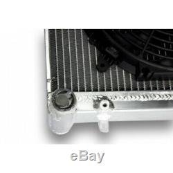 Radiateur Aluminium VOLKSWAGEN GOLF GTI MK4 SEAT LEON AUDI TT MK1+ ventilateurs