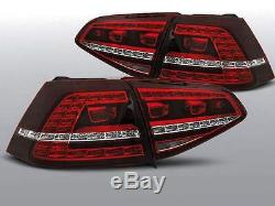 Set Feux Phares Arrière LED Golf 7 VII, Full LED Rouge, Style Gti-R, Nouveaux