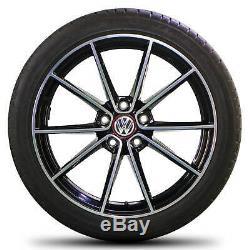 VW 18 pouces Golf 7 6 GTI R jantes Belvedere Alu pneus été pneus été