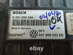 VW Corrado G60 Unité 1,8 Pg 1H Digifant Golf 2 Gti 037906022 Eg Écu