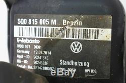 VW GOLF 7 5G VII Gti Webasto Préchauffage Commande 5Q0963513 5Q0815005M