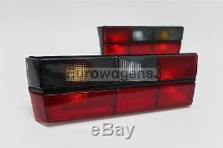 VW GOLF MK1 79-83 GTI teinté rouge tige arrière feux lampe Paire de chauffeur