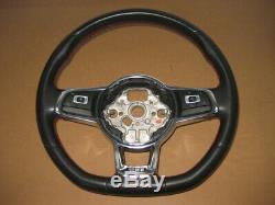 VW Golf 7 5 Q 5g Tiguan 5na Passat 3g Gti R-Line R Volant Gainé de Cuir Aplati