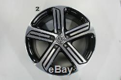 VW Golf 7 Gti GTD R Jantes 18 Pouces Jantes Cadiz Noir Jeu de Jantes