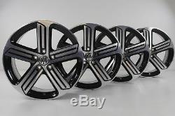 VW Golf 7 R-Line Gti Jantes en Alliage 18 Pouces Cadix Noir 5G0601025DQ Jeu de