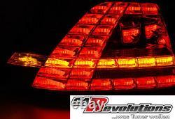 VW Golf 7 VII LED Chenillard Dynamique Clignotant Feux Arrière En Fumee Gti R
