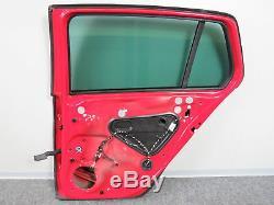 VW Golf VII 7 Gti GTD 4-türer Porte Arrière Droite Fenêtre Latérale Rouge
