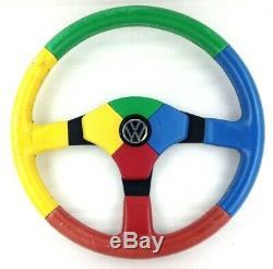 Véritable Momo Benetton Volant Cuir, VW Harlequin Golf Polo Gti Etc 7D