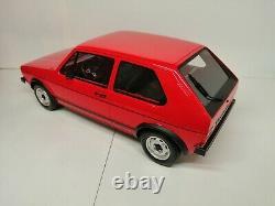 Volkswagen Golf 1 Gti Rouge Otto 1/12 G013 Rare Piece 0000/1500