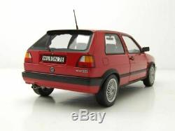 Vw Golf II Gti 1990 Red Norev 188438 1/18 Volkswagen Mkii Rot Rosso Rouge