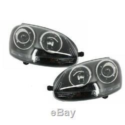 Xenon Look Phares RHD Volkswagen Golf V (2003-2007) GTI R32 Black Edition KITT H